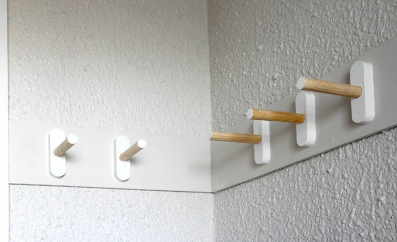 Plank Furniture DIY Coat Rack Coat Hook Bouw zelf kledingkast