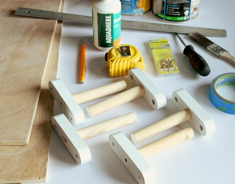 Plank Furniture DIY Coat Rack Materialen Bouw zelf een kledingkast