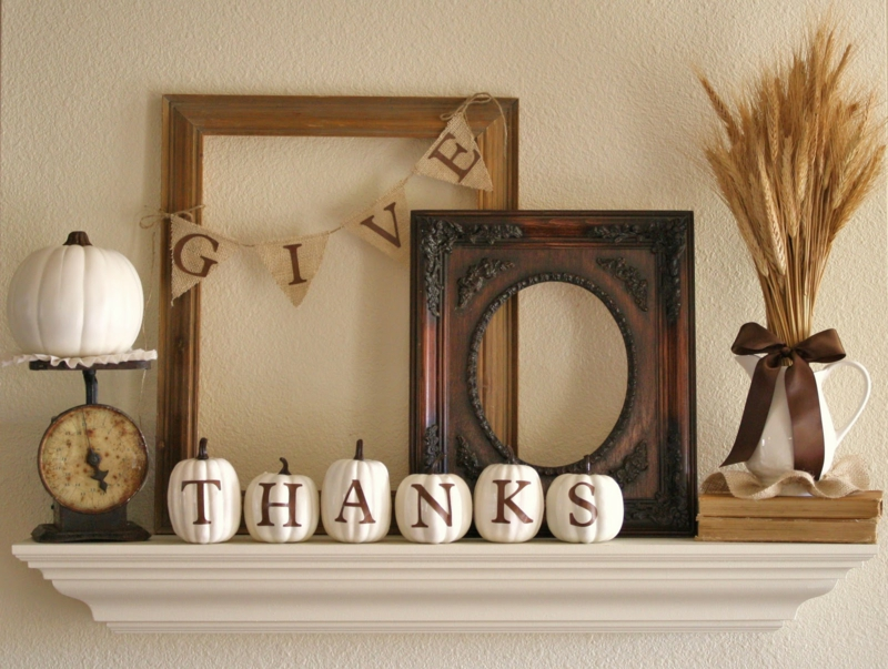 Mantel Decoration Ideas Thanksgiving Home Decorations Dagligstue