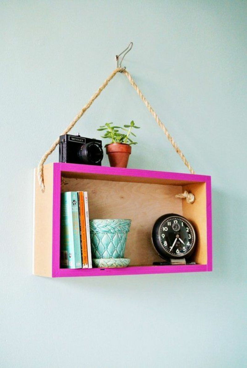 Build wall shelf yourself Instructions DIY wood shelf build yourself