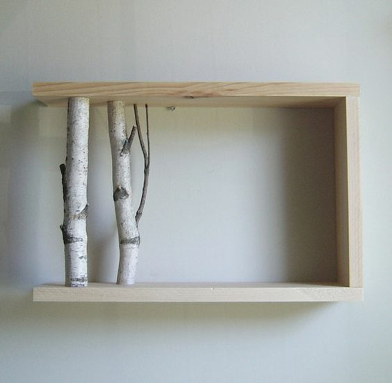 Wall shelf build yourself Instructions DIY projects wood