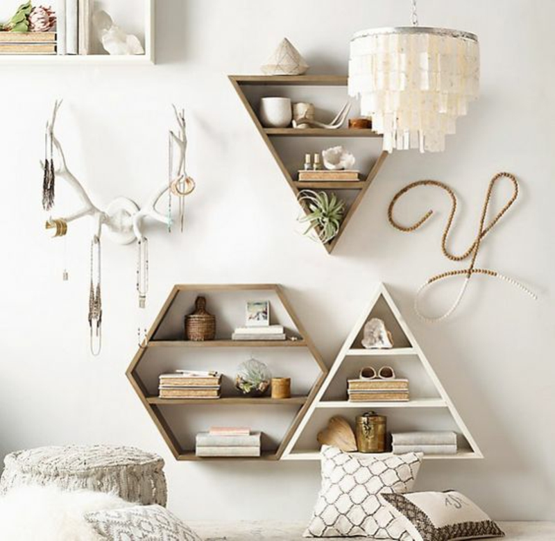 Wall shelf build yourself Instructions DIY shelves