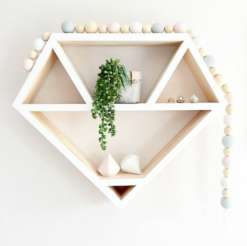 Build wall shelf yourself Instructions build diamond shape shelf