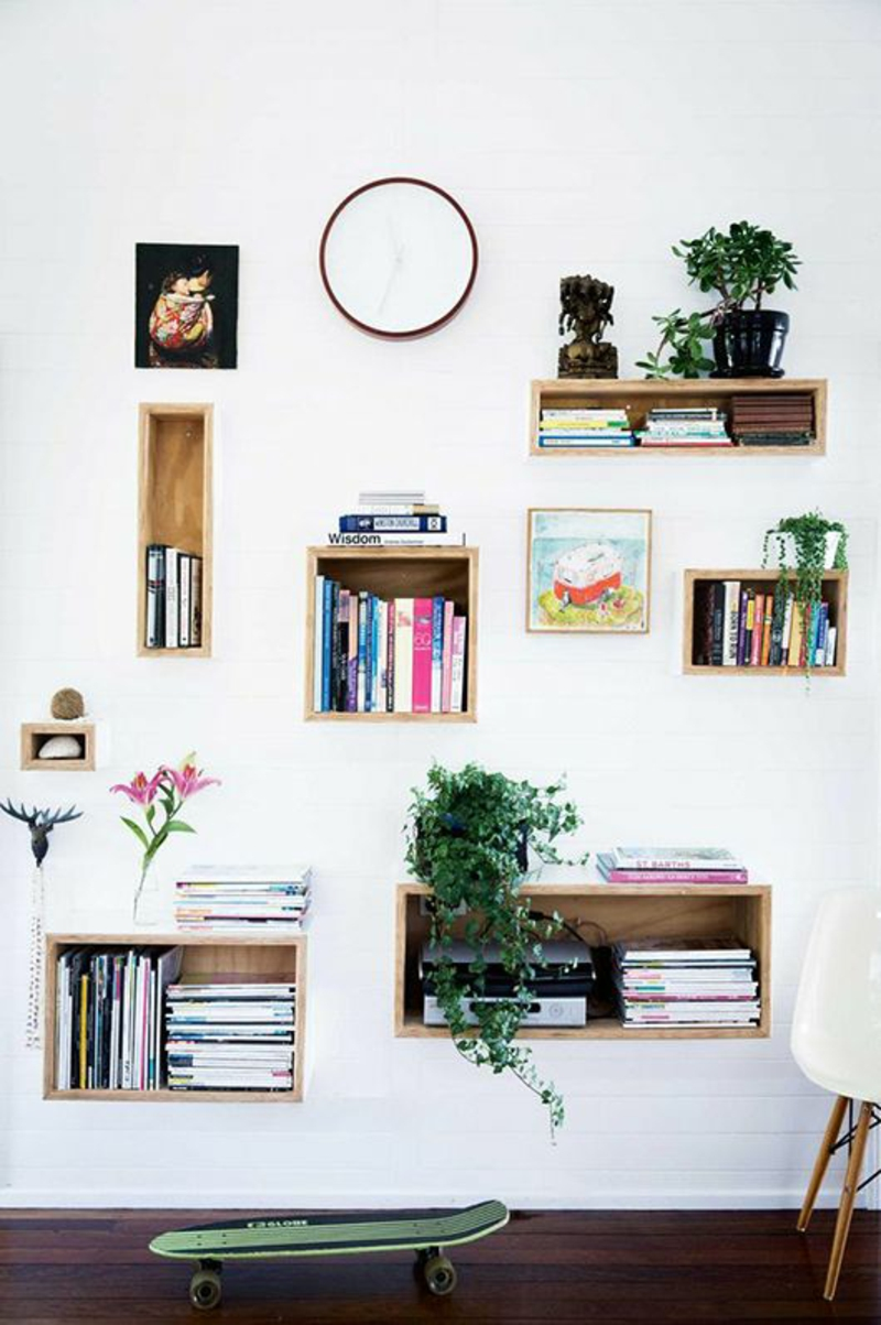 Build bookshelf yourself Instructions to build wood shelves