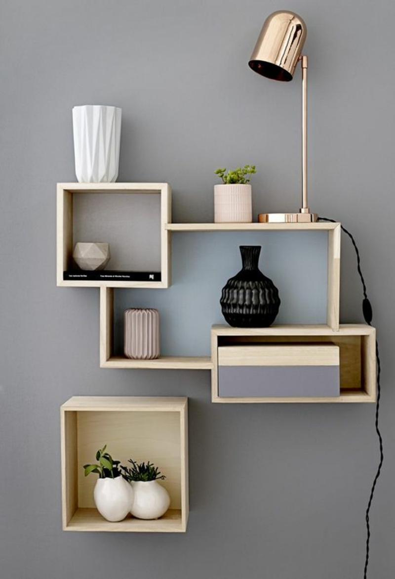 Build your own wall shelf Instructions Build shelves yourself