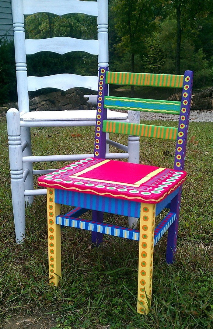 42 Upcycling Ideas On How To Decorate And Paint Old Chairs