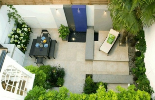 Roof terrace facility cool dining area lounger plant
