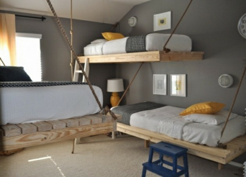 gorgeous kids room design attached to three kids wall