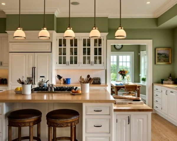 kitchen design wall design sage green