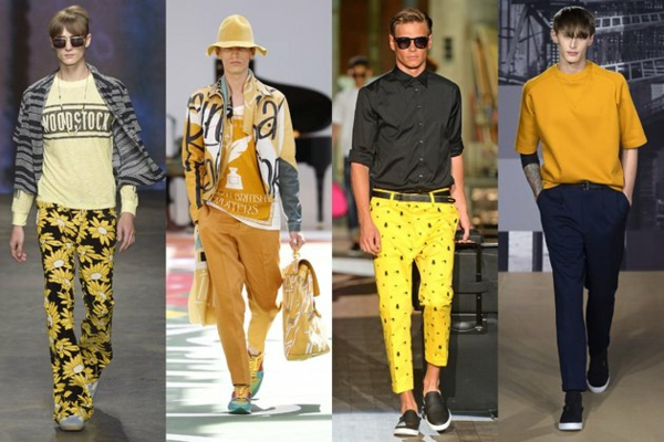 men outfits colors yellow moderating ss 2015 fashion tips men