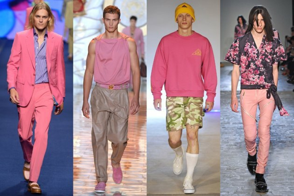 men outfits colors pink moderends ss 2015 fashion tips men