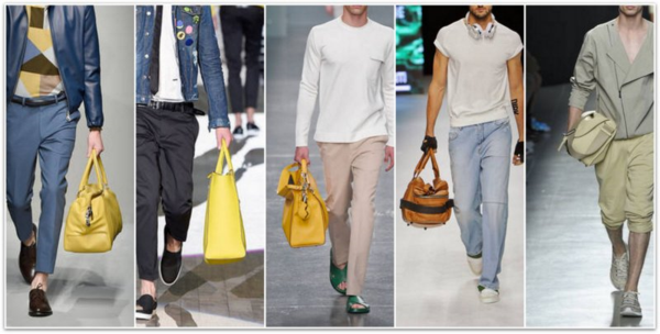 Men's Outfits Trendy Yellow Fashion Trends SS 2015 Men's Bags