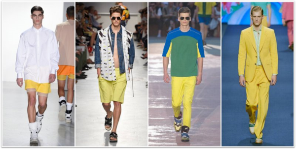 Men's Outfits Trendy Yellow Fashion Trends SS 2015