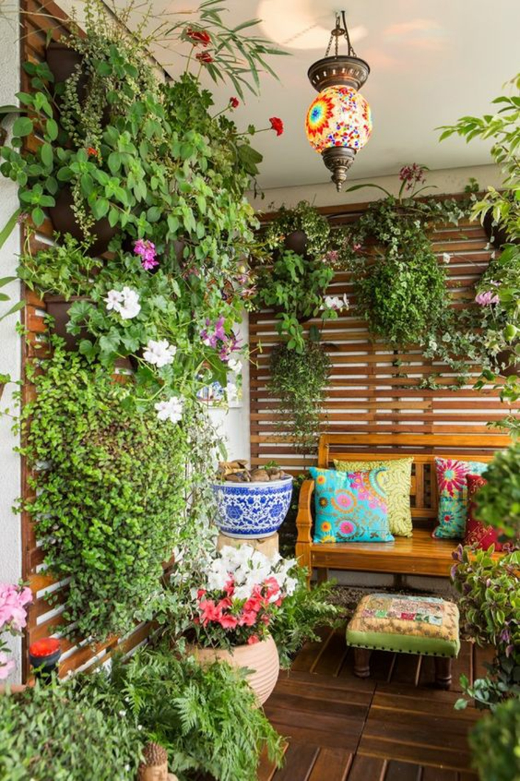 modern terrace design pictures lush balcony plants vertical garden