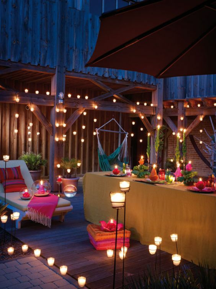 modern terrace design images balcony ideas candlelight lighting