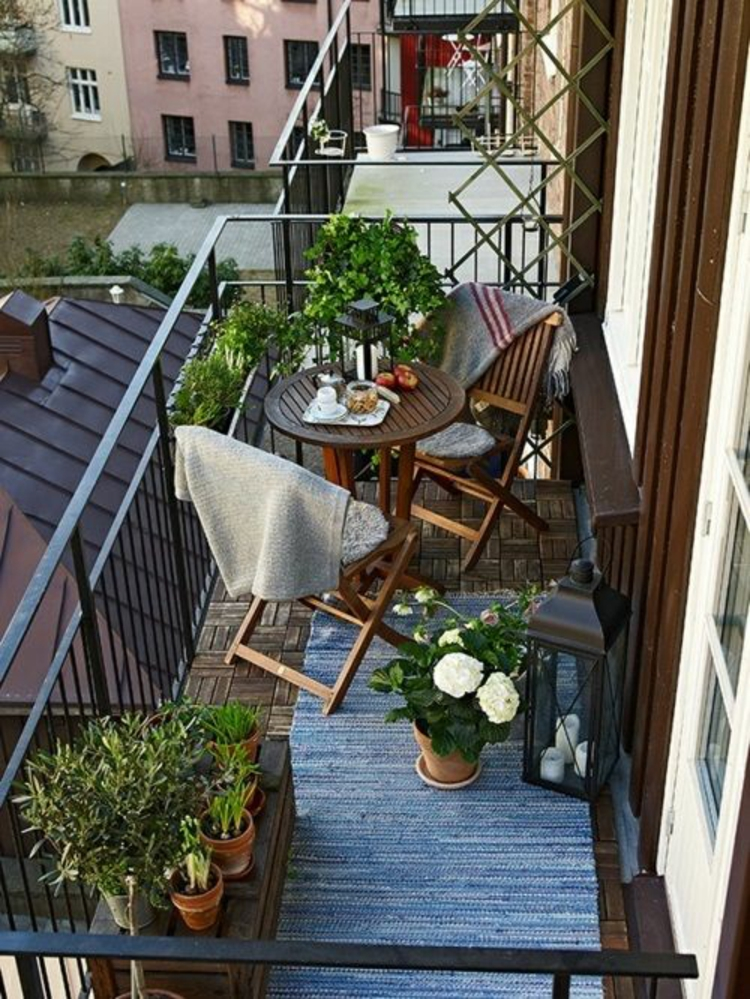 modern terrace design Pictures Balcony furniture Balcony plants Folding chairs