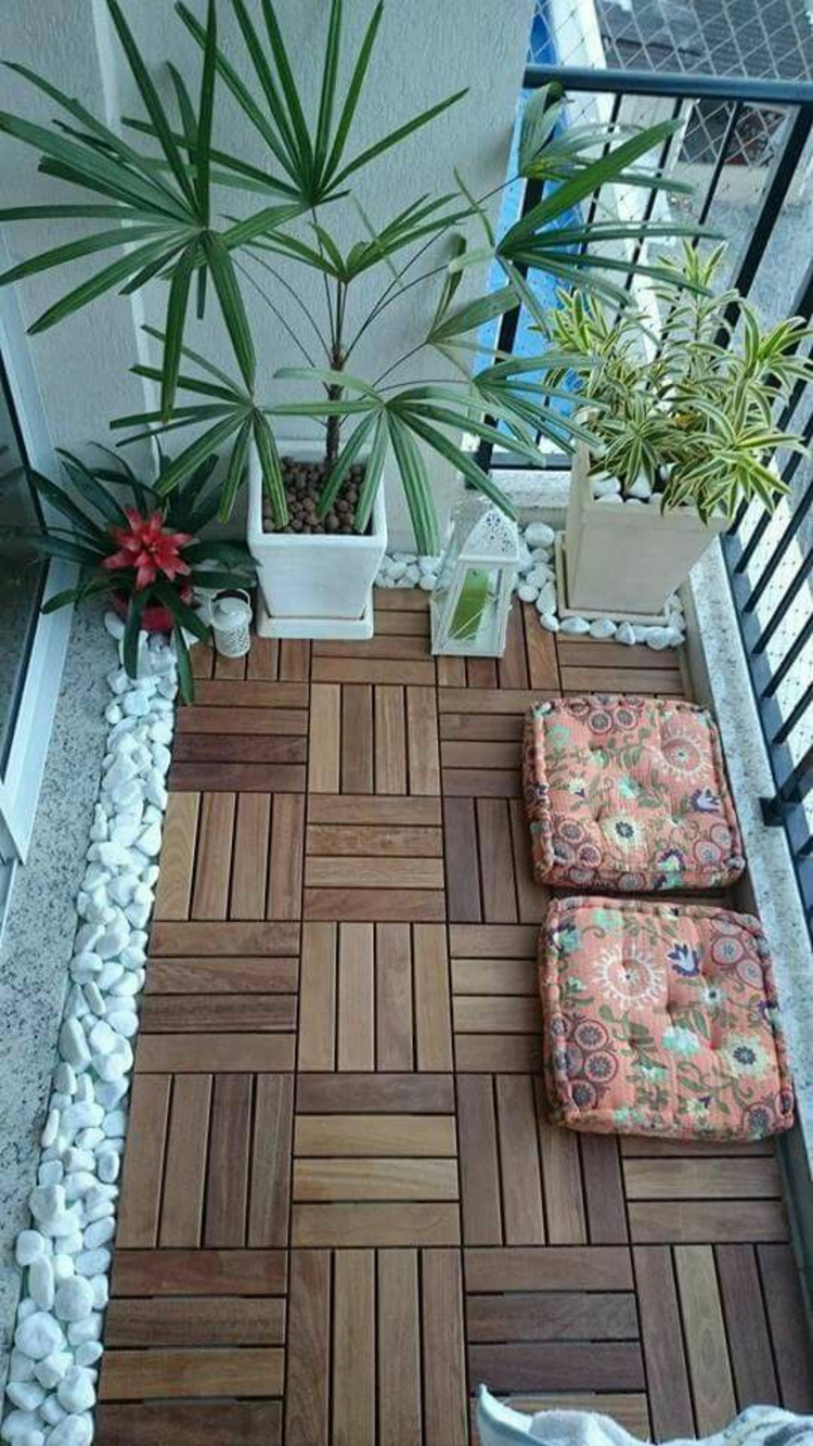 modern terrace design Pictures Balcony furniture Laying wooden tiles
