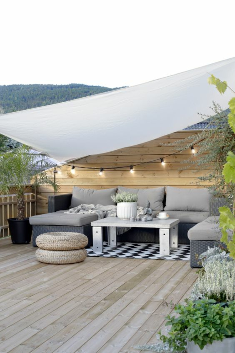 modern terrace design pictures balcony furniture rattan sunscreen