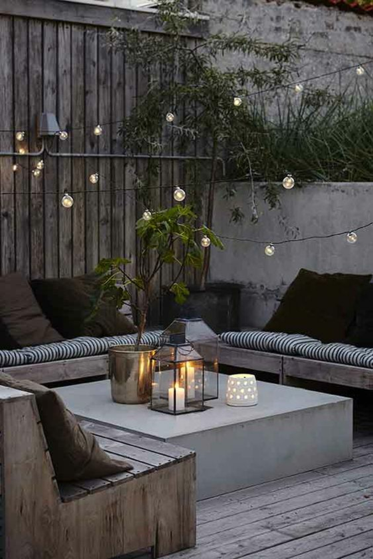 modern terrace design pictures balcony furniture romantic candlelight