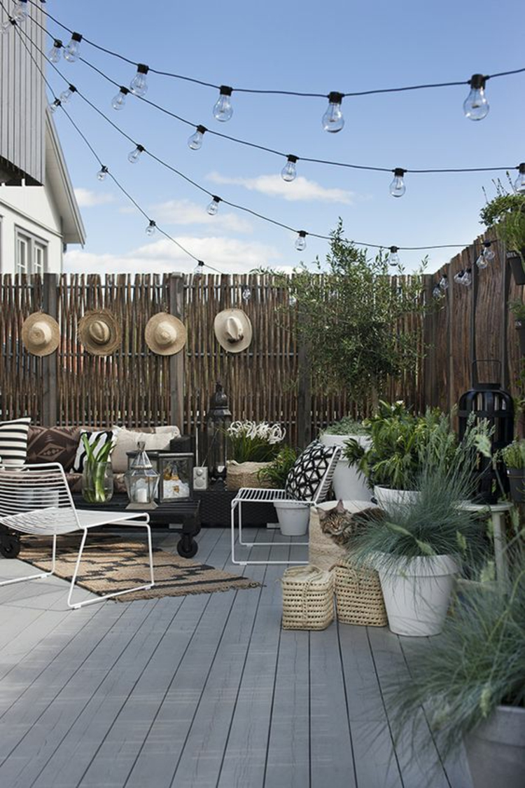 modern terrace design images furnishing examples bamboo screen