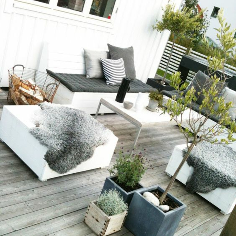 modern terrace design images furnishing ideas in Scandinavian style