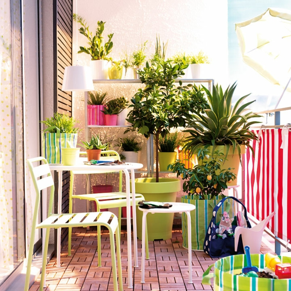 practical balcony ideas colorful furniture seat chair