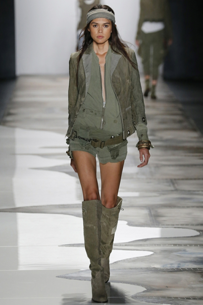 Summer fashion women's fashion ladies greg lauren 2016 military style shoulder cloth jacket boots