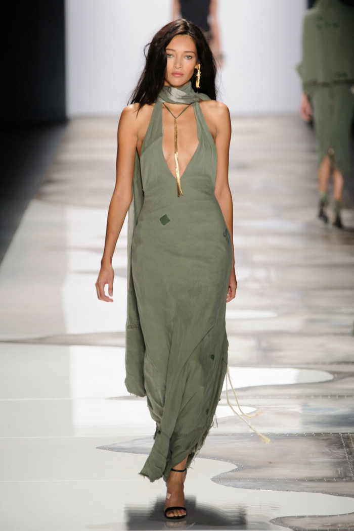 summer fashion women's fashion greg lauren 2016 military style long dress soldier green scarf