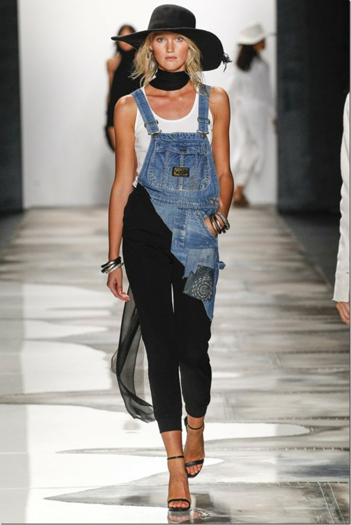 summer fashion women's fashion ladies greg lauren 2016 new york fashion week patchwork pants