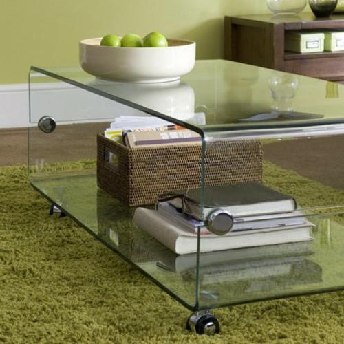 Idee bin Tavolino trasparente tavolino su ruote