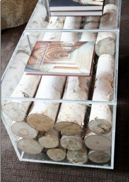 Bin Glass Ideas Bicchiere di legna da ardere