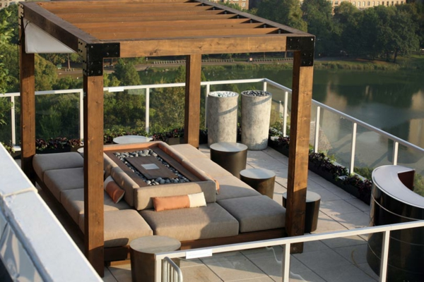 cool terrace roofing ideas state of the art bedroom river