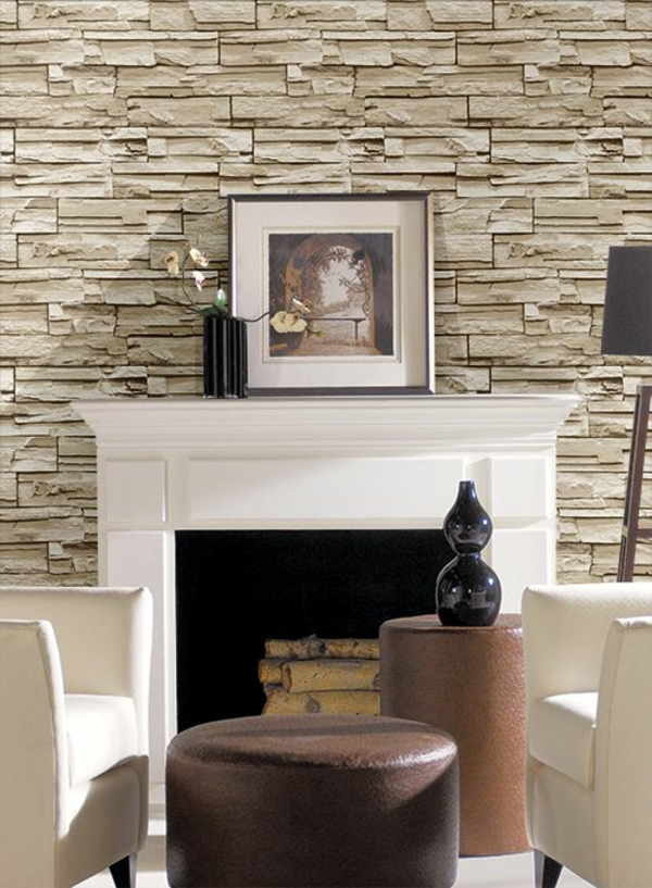Stone Wallpapers Create A Comfortable Ambience In Your Home